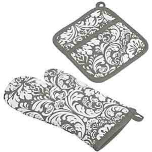 DII Cotton Damask Oven Mitt