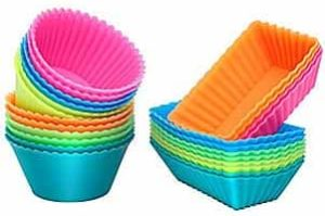 Ipow Silicone Cupcake Baking Cups