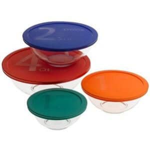 Pyrex Smart Essentials 8 Piece Mixing Bowl Set