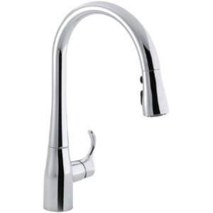 KOHLER K-596-CP Simplice Single-Hole Pull-down
