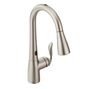 Moen 7594ESRS Arbor with Motion sense One-Handle High Arc Pulldown Kitchen Faucet