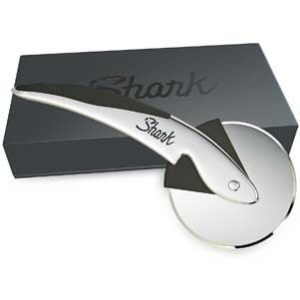 Shark Stainless Steel Pizza Cutter GÇô Cuts Pizza Effortlessly