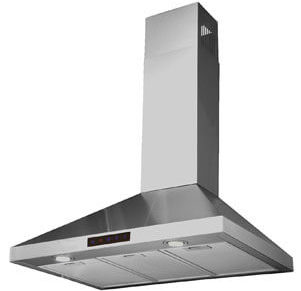 Kitchen Bath Collection STL75-LED Stainless Steel Wall-Mounted Kitchen Range Hood