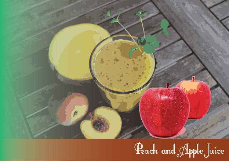 Peach-and-Apple-Juice
