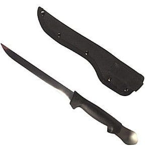 Fillet Knife with Gut Spoon and Sheath