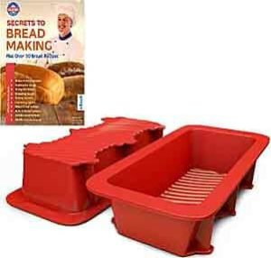 Silicone Bread and Loaf Pan Set of 2 Plus Valentine Recipe Ebook