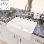 KES cUPC Fireclay Sink Farmhouse Kitchen Sink