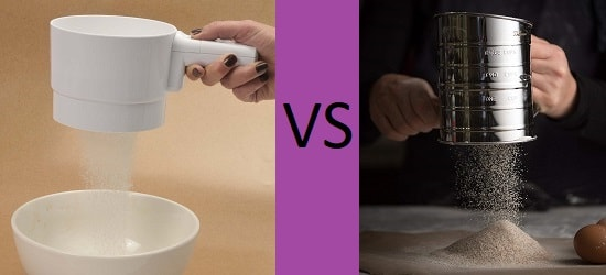 manual vs electric flour sifter