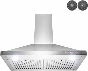 AKDY Wall Mount Range Hood – Stainless-Steel