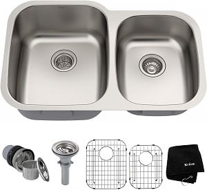 Kraus KBU24 Under Mount Stainless Steel Kitchen Sink