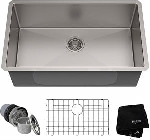 Kraus KHU100-30 Under-Mount Single Bowl Kitchen Sink