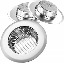 Helect 3-Pack Kitchen Sink Strainer Stainless Steel Drain Filter
